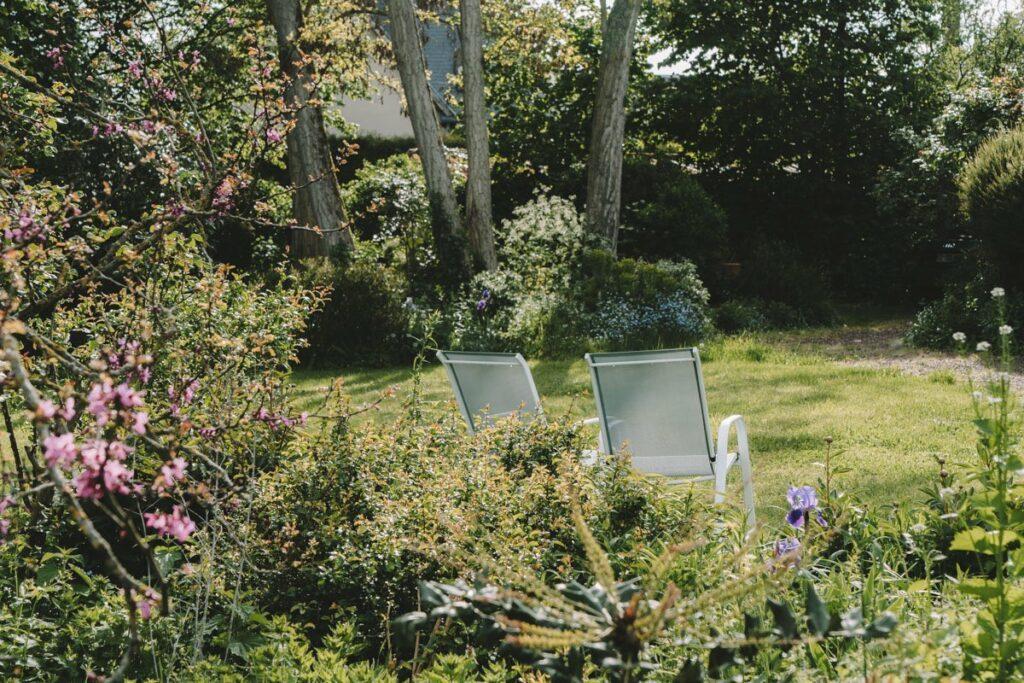 Jardin du Gite La Maison dans la Prairie à Bernot, hébergement weekend campagne dans l'Aisne - Tourisme Picardie Hauts-de-France