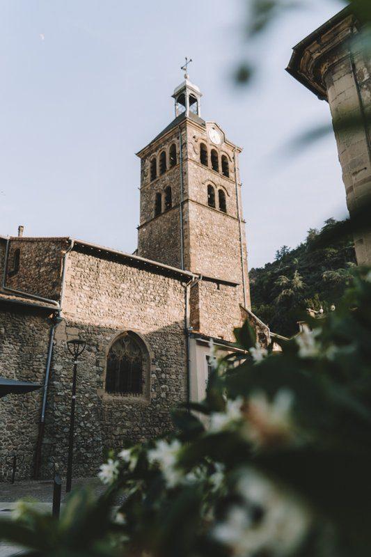 Tournon-sur-Rhone vieille ville médiéval en Ardèche